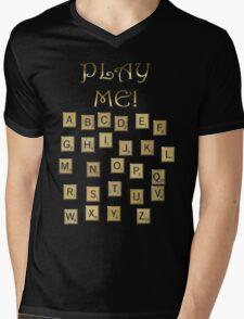 PLAY ME!  Mens V-Neck T-Shirt