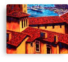 The Red Roofs of Monaco Canvas Print