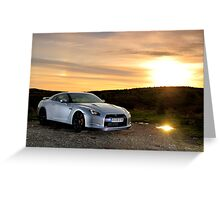 The Nissan GTR .... Greeting Card