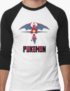 Pokémon Champion Red Men's Baseball ¾ T-Shirt