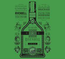 Lord of the Rings Rivendell Wine Vintage Geek Art Baby Tee