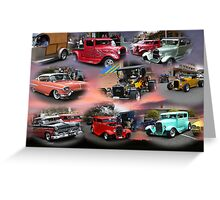 Hot-Rod Collage!!! Greeting Card