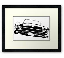 Cadillac silhouette Framed Print