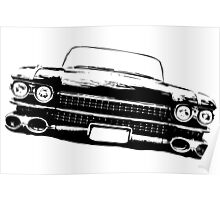 Cadillac silhouette Poster