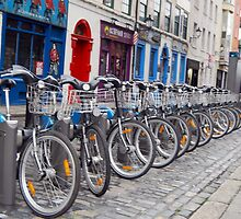 Eco-friendly Bike in Temple Bar by Ferdinand Lucino