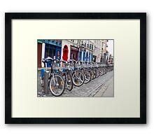 Eco-friendly Bike in Temple Bar Framed Print