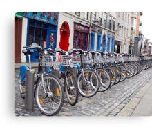 Eco-friendly Bike in Temple Bar Canvas Print