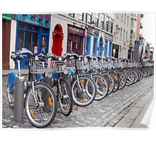 Eco-friendly Bike in Temple Bar Poster