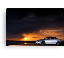 BMW M3 as the sun sets .... Canvas Print