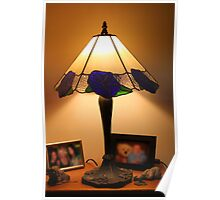 Blue Flower Lampshade Poster