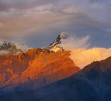 Himalayan Sunset by Harry Oldmeadow