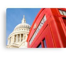 St Pauls And Phone Box Canvas Print