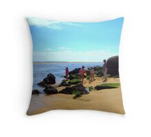 Wonderful beach Throw Pillow