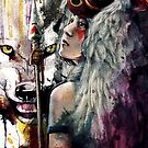 Mononoke San and the Spirit of the Wolf by barrettbiggers