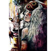 Mononoke San and the Spirit of the Wolf Photographic Print