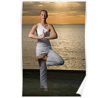 Yoga tree pose by Irena  Poster