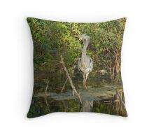 The Grey Heron (Ardea Cinerea)  Throw Pillow