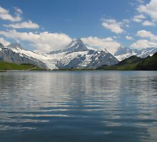 A spring view of Bachalpsee, Grindelwald region by roumen