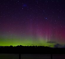 Aurora Australia, 19 March 2015 from Trial bay, Tasmania  by Odille Esmonde-Morgan