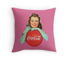 Coca Cola Model #4 Throw Pillow