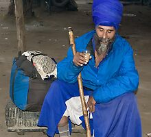 The Man in Blues-Nihang Singh by Mukesh Srivastava