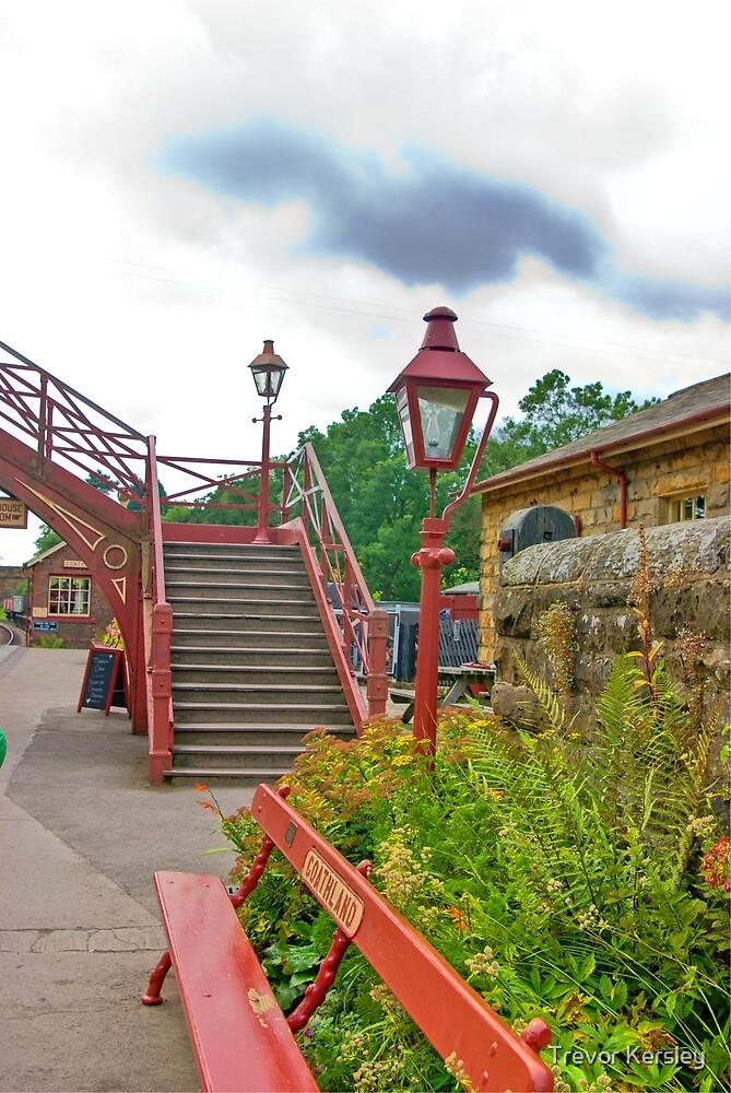 Steps & Lights at Goathland Station by Trevor Kersley