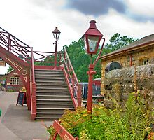 Steps & Lights at Goathland Station by Trevor Kersley