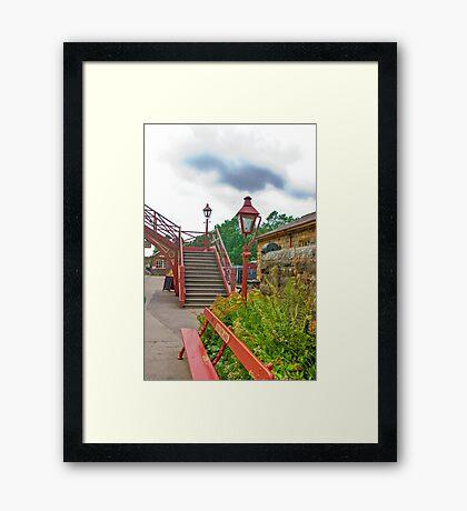 Steps & Lights at Goathland Station Framed Print