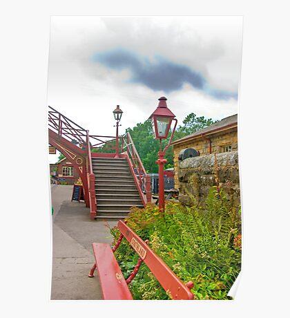 Steps & Lights at Goathland Station Poster