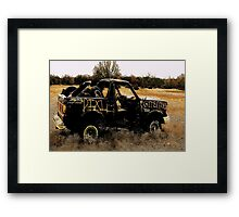 Gitter Done   ( BoneYard Series ) Framed Print