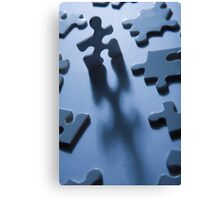 Jigsaw Man Canvas Print