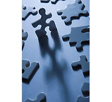 Jigsaw Man Photographic Print