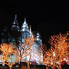 Temple Square at Christmas Time by indeannajones
