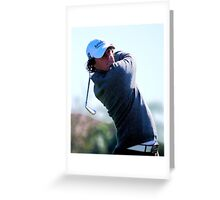 Rory McIlroy - Tees Off Greeting Card