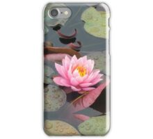 Pink Water Lily iPhone Case/Skin