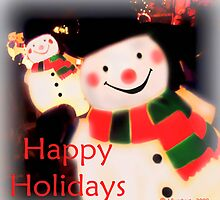Happy Holidays Snowmen Card by Julie Everhart