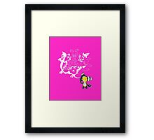 Music Demon (Pink with White Outline) Framed Print