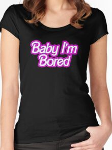 Barbie I'm Bored Women's Fitted Scoop T-Shirt