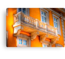 the guitar player balcony.... Canvas Print