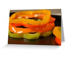 Stacked Peppers- Assorted Peppers Stacked Greeting Card