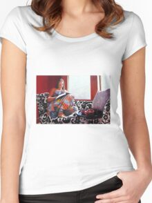 Jessica Reading version 2 Women's Fitted Scoop T-Shirt