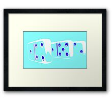 Abstract Dominoes 2 Framed Print