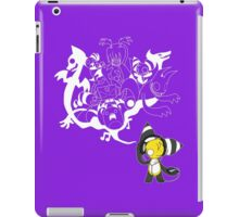 Music Demon Purple iPad Case (White Outline) iPad Case/Skin