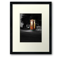 The red box Framed Print