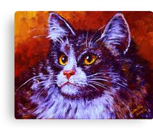 Longhair Cat Canvas Print