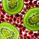 Kiwi and pomegranate by Rachael Talibart