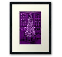 Christmas in Purple Framed Print