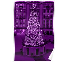 Christmas in Purple Poster