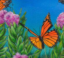 """""""Bouquet with Butterflies"""" Sticker"""