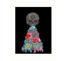 Make Art Not Barf Skull Rainbow Galaxy Illustration Art Print